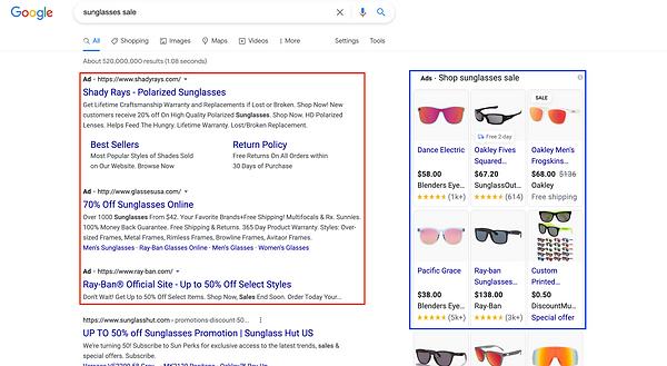 Green Hat Google Ads screenshot