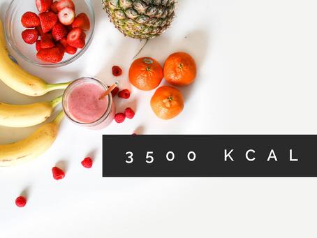3500 kilocalories