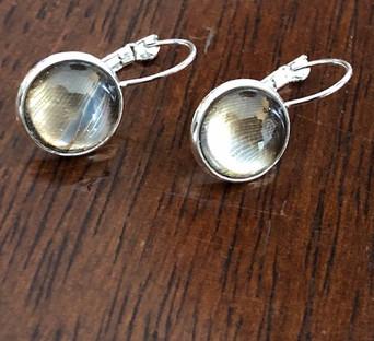 Boobook owl feather earrings