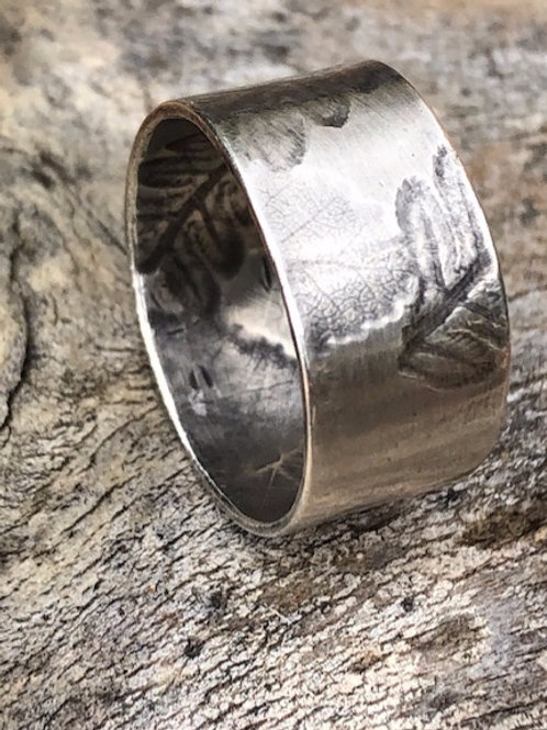 Fern and Fagus Silver Ring