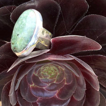 Tasmanian diopside and sterling silver ring