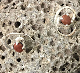 Tasmanian jasper stud earrings