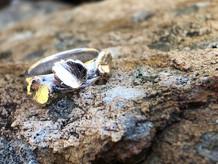 myrtle leaf half round ring