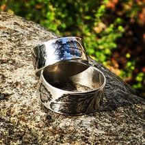botanical wedding rings