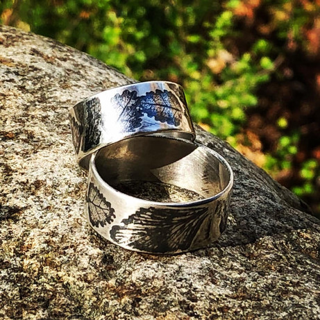 botanical wedding rings