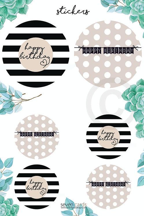 happy birthday / stickers