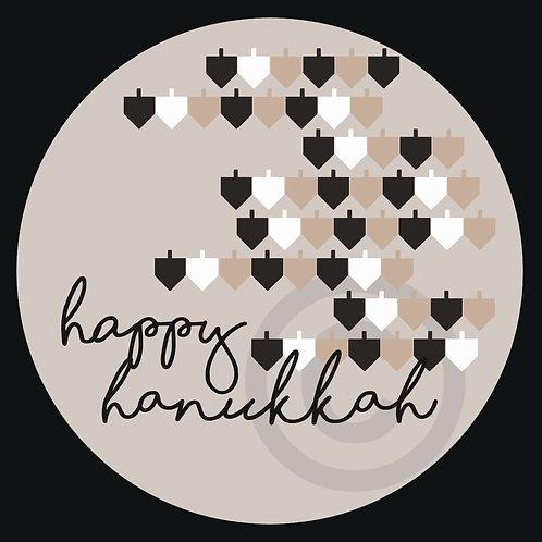 happy hanukkah / stickers