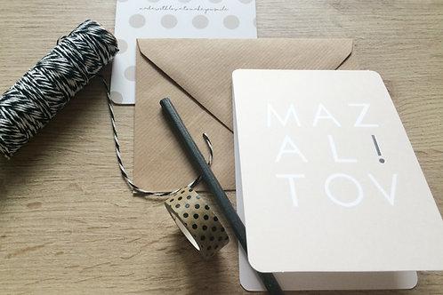 MAZAL TOV! - KLAPPKARTE