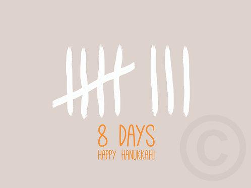 wholesale - 8 DAYS - happy hanukkah / postcard
