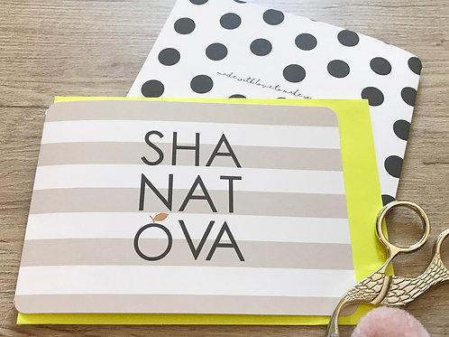 SHANA TOVA - MODERN - KLAPPKARTE