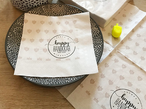 wholesale - paper napkins/ happy hanukkah