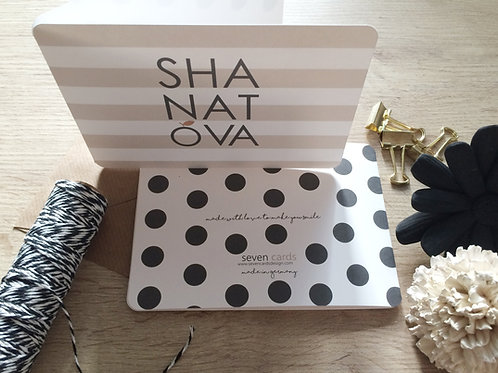 wholesale - shana tova - modern / folded card