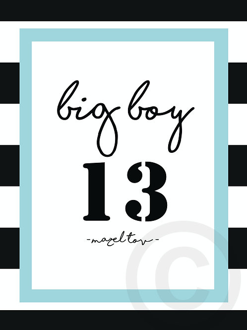 wholesale - big boy 13 / postcard