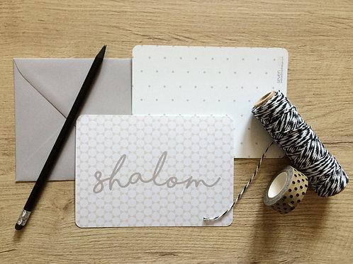 SHALOM - POSTKARTE