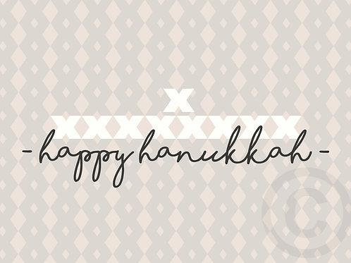 happy hanukkah - x / postcard