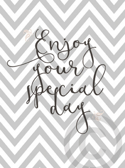 enjoy your special day / postcard