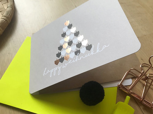happy weihnukka - sevivon tree / folded card