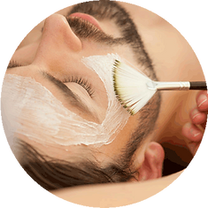 Man salon skin care, facial, hair removal