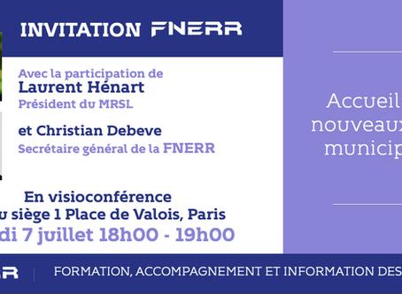 Invitation FNERR : Accueil des nouveaux élus municipaux