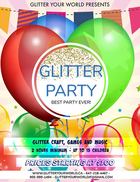 2019-04-23 - Glitter Bday Party Poster -