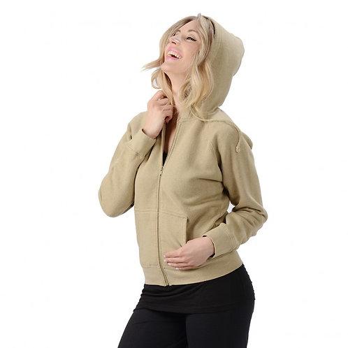 Women's Hemp Zip Hooded Sweatshirt