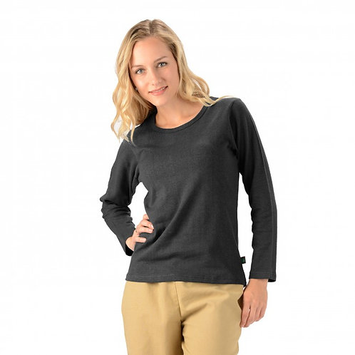 Women's Hemp Long Sleeve Scoop Neck