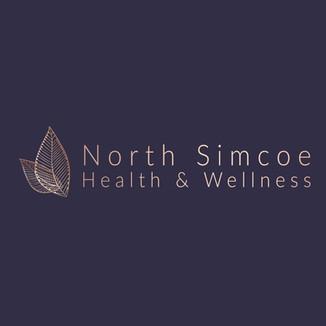 logo - Blue BG - North Simcoe Health Wel
