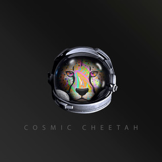 Space Helmet Black Theme - Cosmic Cheeta