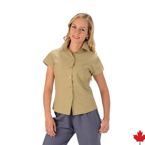Women's Hemp Short Sleeve Blouse