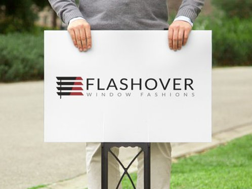Flashover Lawn Sign