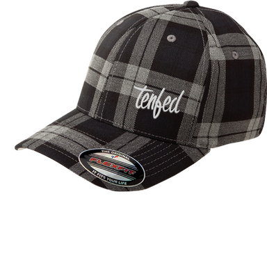 Tenfed - White Text - Plaid Flexfit - Te