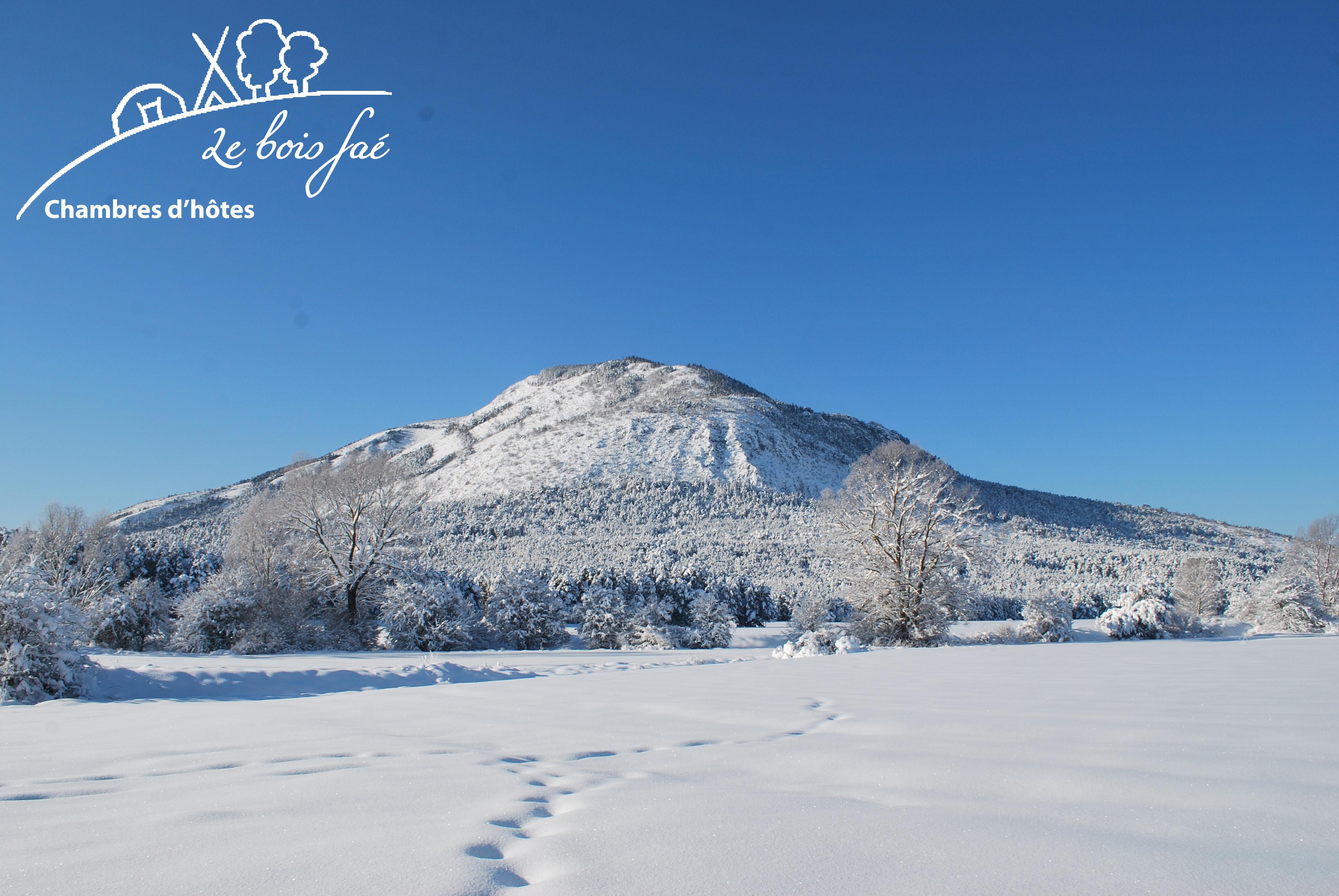 la montagne du Brouis en hiver