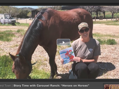 In the News! Heroes on Horses Reading Time at Carousel Ranch for Equestrian Therapy for Kids