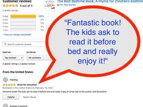 Amazon Reviews of The Best Bedtime Book: A rhyme for children's bedtime