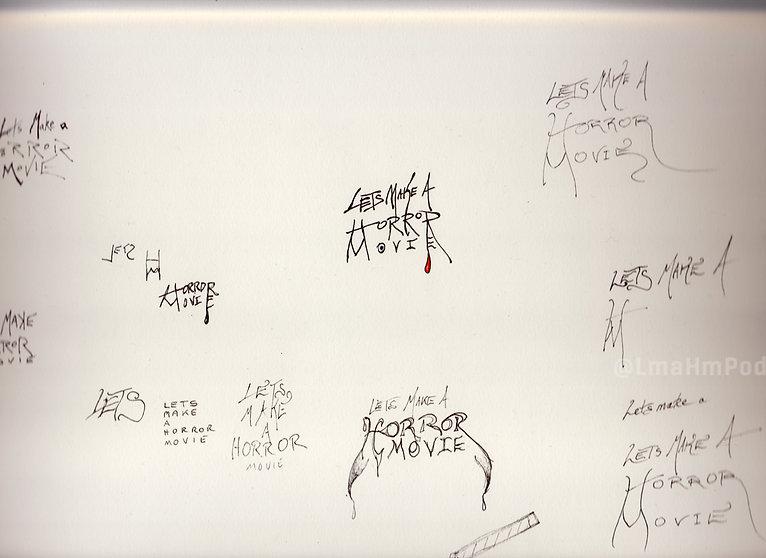 Original LmaHmPod Branding Sketches
