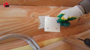 Металлическая подложка для розеток - установка