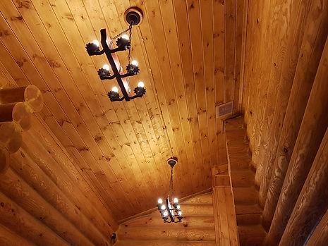 Ретро-проводка в деревянном доме, подключение люстр / светильников