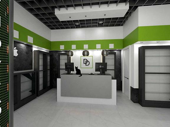 Салон связи дизайн-проект воплощение