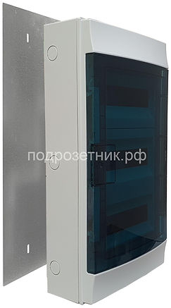 Металлическая подложка для накладных щитов ABB Mistral 36 для деревянного дома | установка электрощитов в деревянном доме | накладной электрощит ABB | электрощиты ABB для деревянного дома| безопасная установка электрощитов в деревянном доме