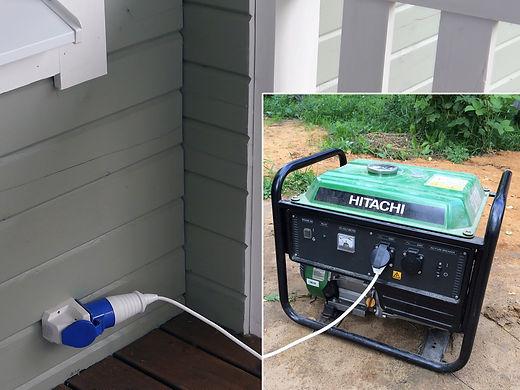 Подключение генератора в деревянном доме
