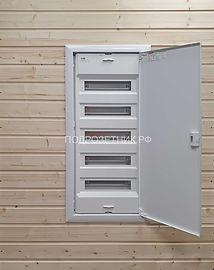 Металлический электрощит встроенный для деревянного дома