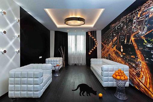 Дизайн квартир в темных тонах. Дизайн гостинной в тёмных тонах. Интерьер с черным