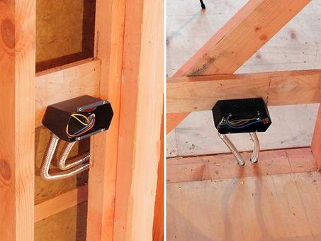 Скрытая электро проводка в каркасном доме в металлических подрозетниках