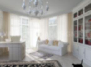 Дизайн проект коттеджа. Дизайн гостинной в светлых тонах. Ремонт коттеджей
