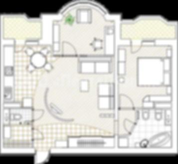 Перепланировка 2-х комнатных квартир в доме серии И-155