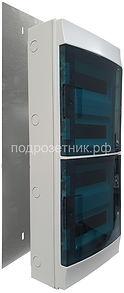 Металлическая подложка для накладных щитов ABB Mistral 48 для деревянного дома | установка электрощитов в деревянном доме | накладной электрощит ABB | электрощиты ABB для деревянного дома| безопасная установка электрощитов в деревянном доме