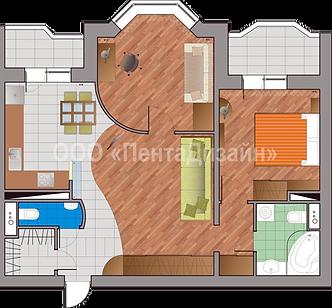 Перепланировка 2-х комнатной квартиры в И-155