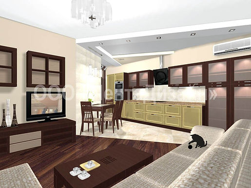 Дизайн-ремонт 3-х комнатных квартир