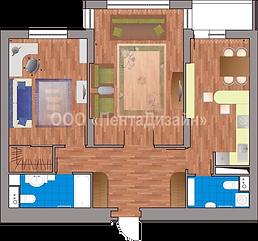 Перепланировка 2-х комнатных квартир на ул. Гризадубовой