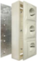 Металлическая подложка для накладных розеток Legrand для деревянного дома 3 поста